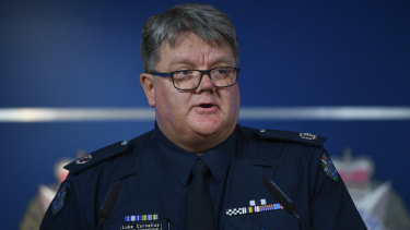 Assistant Commissioner Luke Cornelius, acting head of Professional Standards Command.