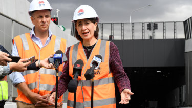 MS Berejiklian said the government would keep its 49 per cent stake in WestConnex.