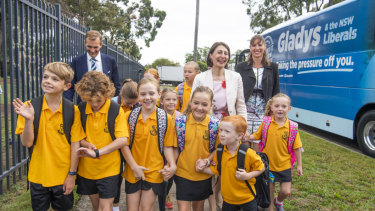 Premier Gladys Berejiklian visited Revesby South Public School on Friday.