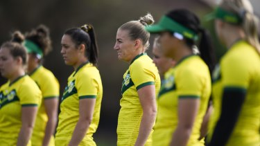 The Australian women's team prepares for this weekend's World Cup 9s.