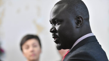 Sudanese community spokesman Maker Mayek wants a more ''balanced'' government and media approach to the African community.