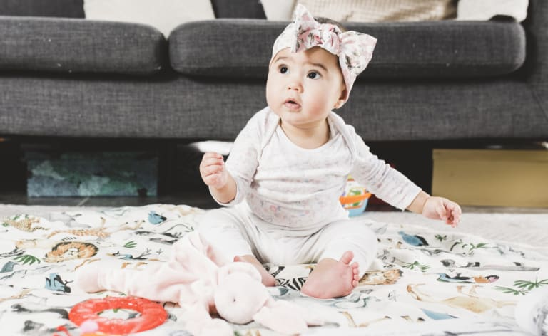 Is it only a matter of time before seven-month-old Luna Wojtaszak becomes a tiny influencer herself?