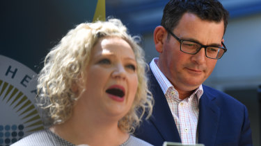 Victorian Attorney-General Jill Hennessy and Premier Daniel Andrews