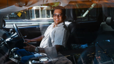 """I'm a happy man"": Lyantha Bamunuwitage is one of about 170 Uber drivers in line for a $14,000 bonus next week."