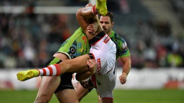 Cotric's tip tackle on Tim Lafai was deemed serious enough for the first send off of the season.