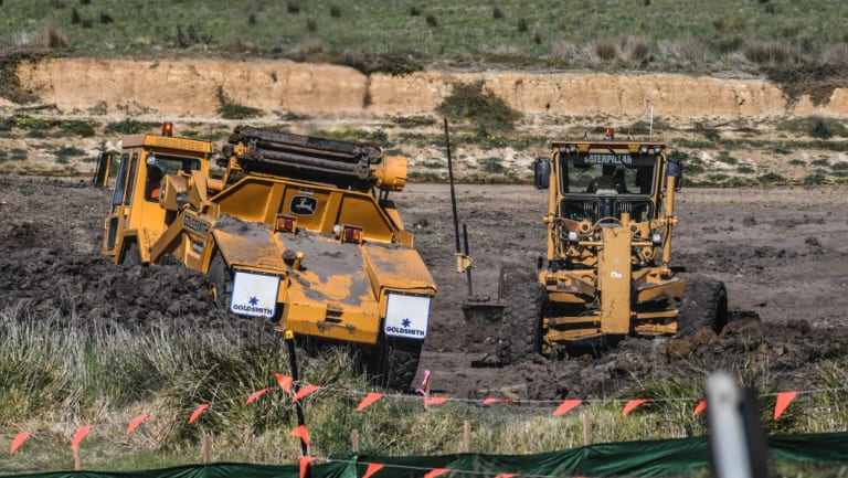 Work on the Drysdale bypass near Bellarine Secondary College.