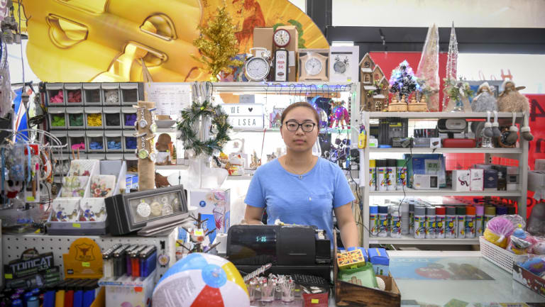 Trader Teresa Wang says an increase in crime on the foreshore is affecting business.