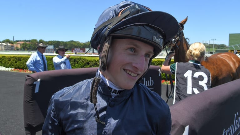 Super Saturday: Tom Marquand was all smiles after landing his first Sydney winner.