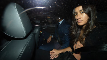 Waiting game: Folau's wife, Super Netball star Maria, was by her husband's side on Tuesday.