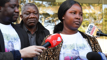 Mary Kpaba told the coronial inquest how she had run back into the burning home to save her daughter.