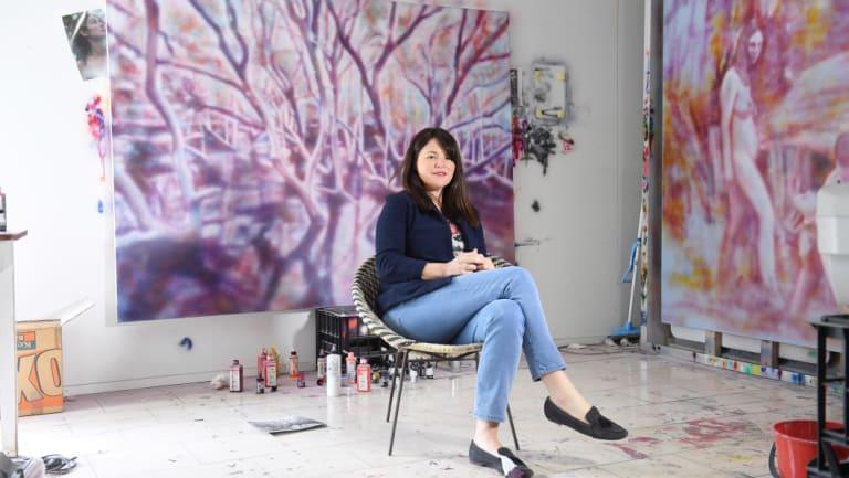 Archibald Prize-winning artist Fiona Lowry in her Rose Bay studio.