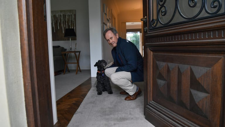 """Mr Greenshields and family pet JJ: """"I have not enjoyed taking more on.""""."""