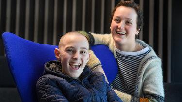 Brock Lang-Purdy and Felicity Hardwick, who are students at the Children's Hospital School, are participating in the game-changer challenge to design a solution to the problem of how to humanise technology.