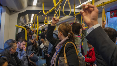 Trams on parts of the inner west line are already heavily crowded during peak hours.