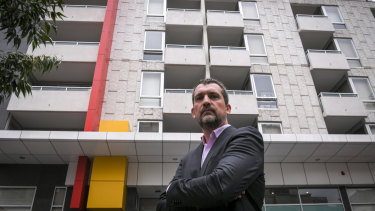 Jeremie Renard lives in an apartment building on the edge of the CBD which was recently found to have combustible cladding.