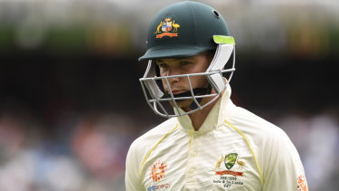 Peter Handscomb's spot in the Australian XI is in doubt.