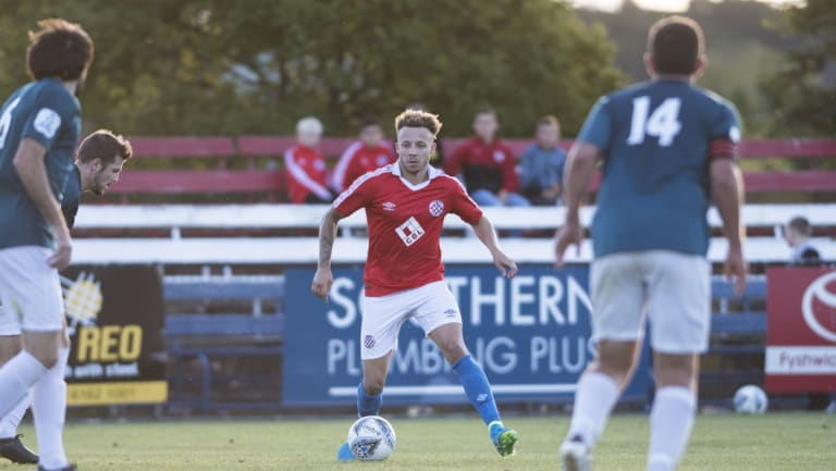 Canberra FC striker Thomas James proved the difference against Olympic on Wednesday night.