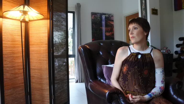 Gungahlin woman Tanya Gendle, who has terminal breast cancer, at home.
