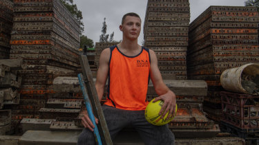 "Connor Walker was a student at Agoge Education Australia. ""I'm working as a concreter now."""