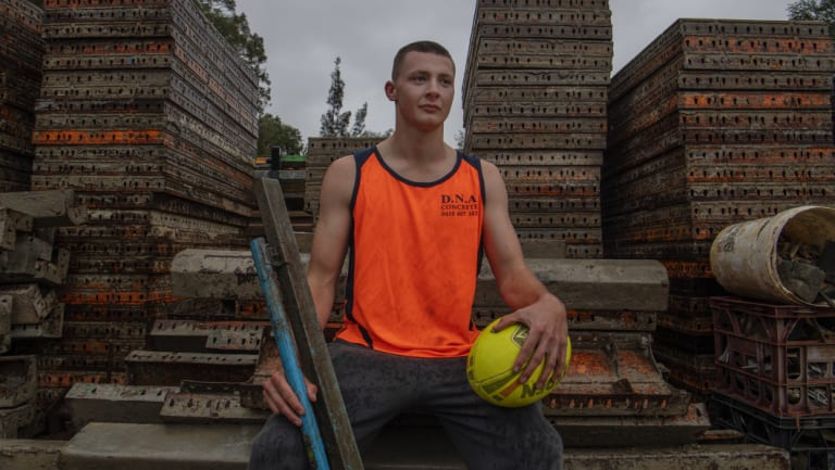 """Connor Walker was a student at Agoge Education Australia. """"I'm working as a concreter now."""""""