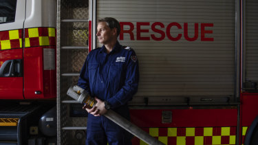 Shannon Crofton, NSW Fire and Rescue flood rescue expert at Hurstville station.