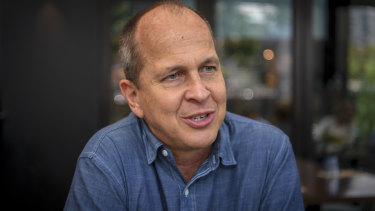 Happier times: Peter Greste is back to Australia.