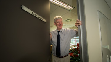 Michael Harris on his first day as new ACT Auditor-General.