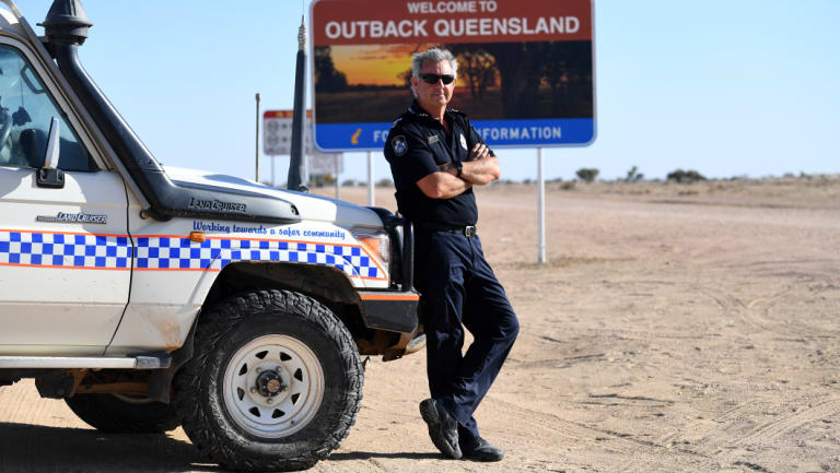 Senior Constable Pursell is the only police officer in the town and in charge of an area the size of the United Kingdom.