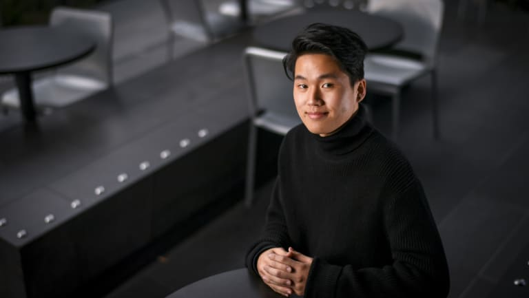 Jonathan Huang worked two part-time jobs during high school to support his family.