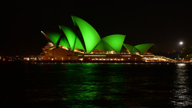The Opera House goes green, Monday night at 6pm.