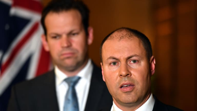 Resources Minister Matt Canavan and Energy Minister Josh Frydenberg: climate change and energy policy have become key fault lines for the Coalition over the last decade.
