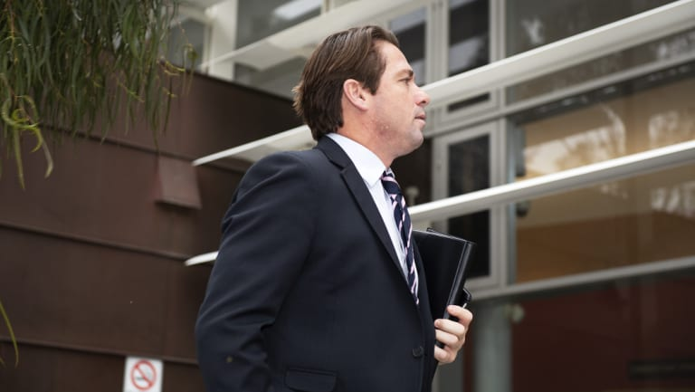 Shannon Grant arrives at Moorabbin Magistrates Court on Tuesday.