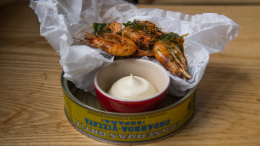 Hawkesbury River school prawns at Nomad, Surry Hills.