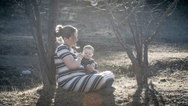 Captains Flat mum Claire Hooker and six month old son Michael speaks about her botched childbirth experience at the Canberra Hospital.