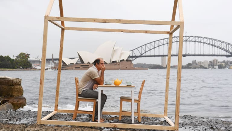 Geoff Sobelle, creator of the Sydney Festival's HOME at Mrs Macquarie's Chair.