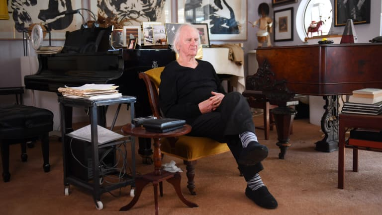Pianos are a recurring motif in Unsworth's work, and in his life.