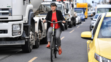 Moreland mayor Natalie Abboud More said more people were rejecting car ownership and opting to cycle, catch public transport or ride share.