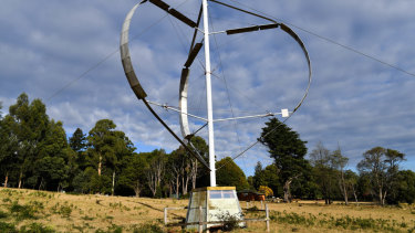 The Darrius at Moora Moora started out as a wind turbine, but now functions as 'an installation'.