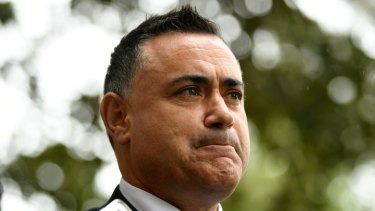 Under fire: NSW Nationals leader John Barilaro.