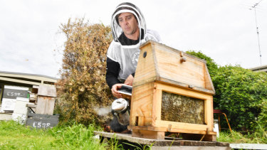 Simon Mulvany is concerned about what effects proposed pesticide spraying will have on his bees.