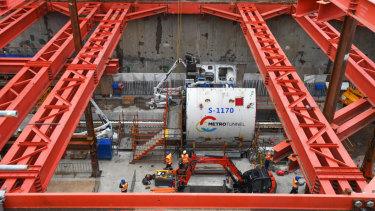 Metro Tunnel's North Melbourne site