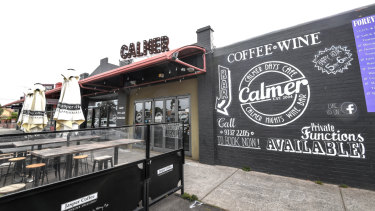 Calmer Cafe in Aberfeldie, in Melbourne's north west, bears a similar name to a cafe in the Year 12 English exam.