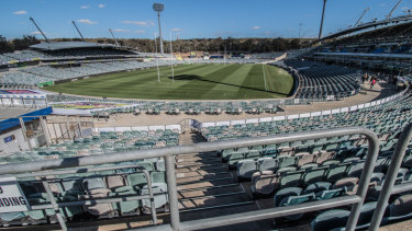 The future of Canberra Stadium remains unclear.