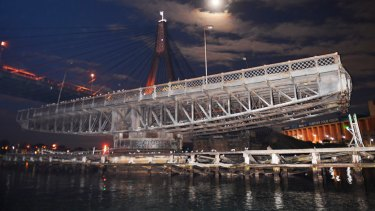 The historic Glebe Island Bridge could be used by cyclists and pedestrians as part of urban renewal projects on Sydney Harbour.