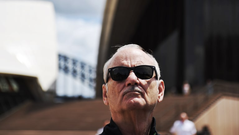 """You can't help but be funny sometimes"": Bill Murray at the Sydney Opera House."