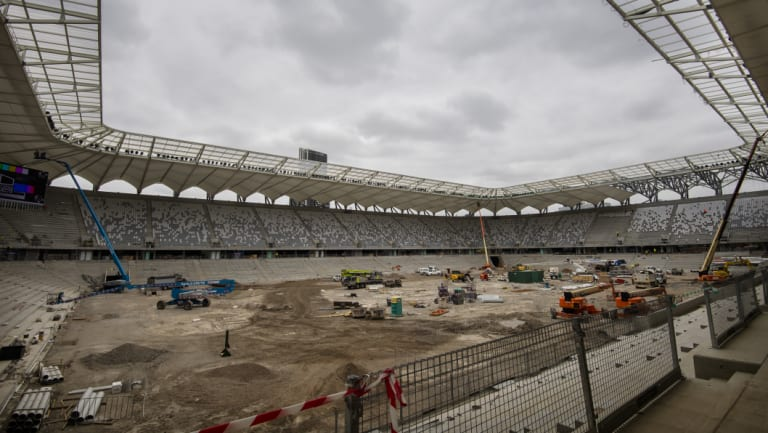 The new Bankwest Stadium, home of the Parramatta Eels.
