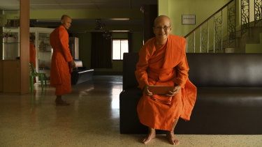 Female monks at the Songdhammakalyani Monastery in Thailand's Nakhon Pathom province.