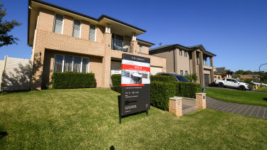 House prices still falling in Sydney and Melbourne but not as steeply as anticipated.