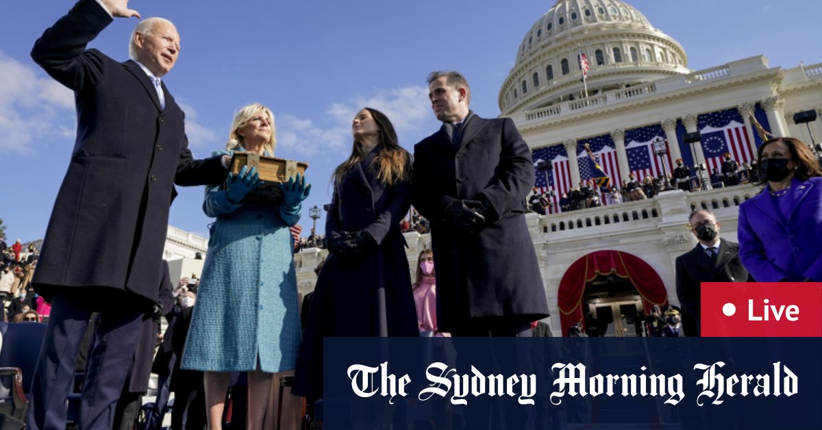 Inauguration Day LIVE updates: Joe Biden Kamala Harris officially assume US office at heavily guarded ceremony in Washington – The Sydney Morning Herald