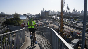 The bike path from the inner west to the city is the state's busiest cycling route.